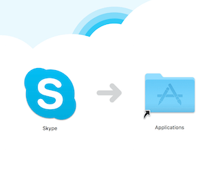 SkypeをApplicationsに移動させる