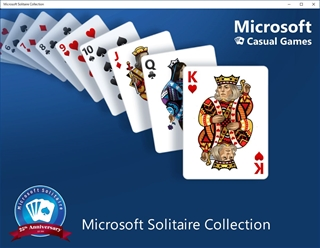 Microsoft Solitaire Collectionの起動画面