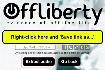Offlibertyのダウンロード画面の「Right-click here and 'Save link as…'」のリンク