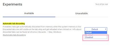 Chromeでタブが勝手にリロードされる場合の対処法!【メモリ節約