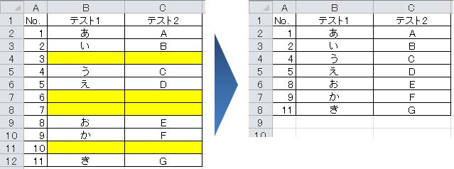 Excelで空白行を削除する方法 大量の空白行をまとめて消す Aprico